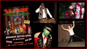 So sind unsere Halloween Poster entstanden. Halloween Projekt Lüneburg - Deutsch Evern