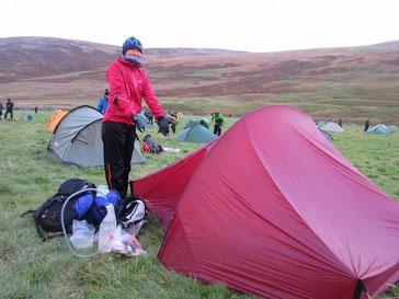 我々のテント。2日目のスタート、撤収前