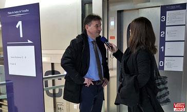 Pascal Thévenot, maire de Vélizy, au Tribunal de versailles le 19/03/2018.