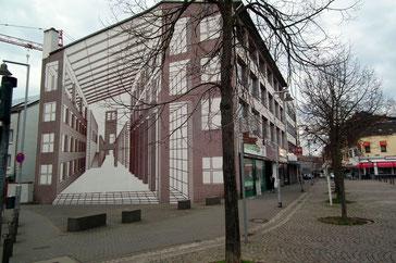 Künstlerische Giebelgestaltung, Kaufland, 1989