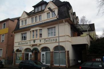 Saarbrücker Straße 292, Dudweiler Zeitung, 1925, Architekt Heinrich Otto, Untersteller
