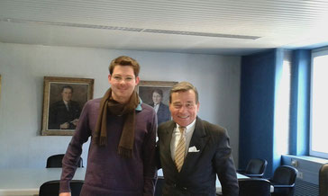Wolfgang Grupp mit Men's Individual Fashion Gründer Christian Frosch. Photo: Men's Individual Fashion.