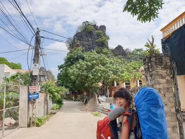 Straße in Tam Coc