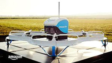Maybe unmanned aerial vehicles such as this one will be operated by integrators in future to adhere to delivery times  -  courtesy: Amazon