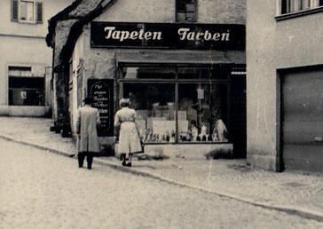 Dudweiler, Scheidter Straße, Tapeten Böhm