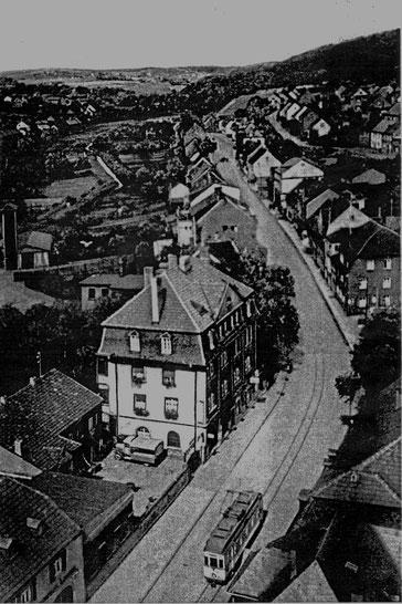 Dudweiler, Saarbrücker Straße, Auf der Hütt, Getränke Armbrust, 1950