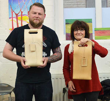 leather workshop bottle holders
