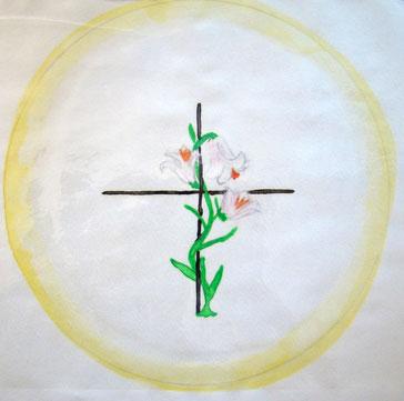 Ein Mandala einer Blume. Die initiatische Therapie bietet eine ganzheitliche Sichtweise auf die Einheit Körper Geist und Seele.