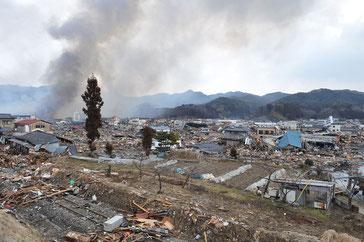 災害直後の気仙沼市(写真:気仙沼市)