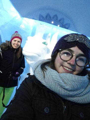 Verena und Clarita im Eishotel