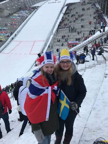 Tabea und Maria beim Skifestival in Oslo