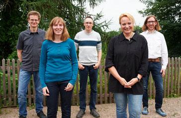 Der NABU Vorstand mit ihrer Vorsitzenden Tanja Frischgesell (rechts), ihrer Stellvertreterin Stefanie Beyer und ihren Stellvertretern Torsten Maiwald, Heiko Niehaus und Dr. Kai Hofmann (von rechts)