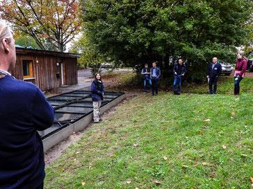 Die Naturschutzbehörden besuchen den ÖNSOW-Standort (Foto: Kathy Büscher)