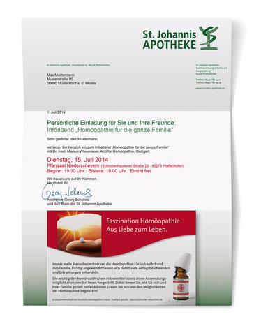 Einladungsmailing für Vortrag an ausgewählte Kunden
