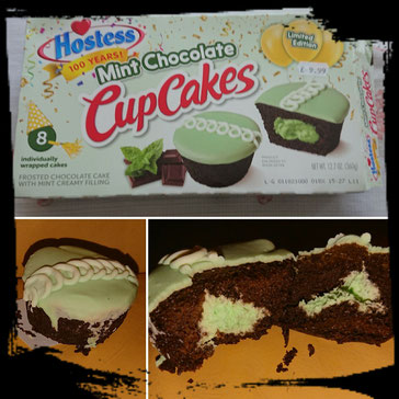 Mint cup cake
