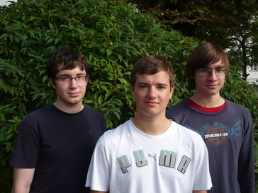 Christoph Fürbahs, Stefan Haberlandt, Christian Bagari; from left to right