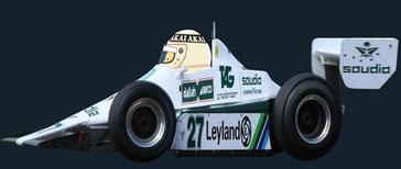 Alan Jones by Muneta & Cerracín  Albilad-Williams Racing Team con su Williams FW07 - Ford Cosworth
