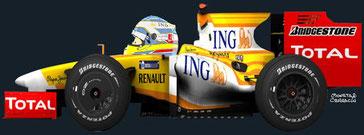 Fernando Alonso by Muneta & Cerracín - Fernando Alonso obtuvo la pole a los mandos de un Renault R29
