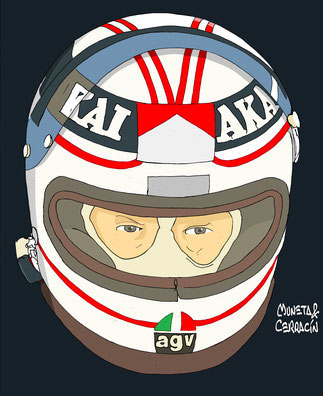 Alan Jones by Muneta & Cerracín - Albilad-Williams Racing Team con un Williams FW07B - Ford Cosworth DFV