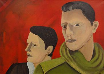 Portrait, Mann, Acryl, Malerei