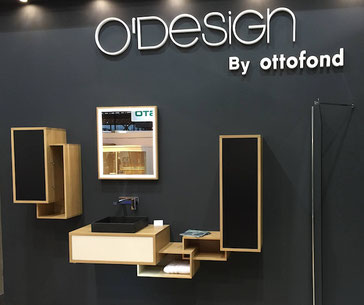 ©O'Design by Ottofond, meuble Scala de salle de bain au salon Idéobain 2015 Paris