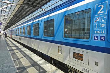 поезд Евросити Киль - Прага