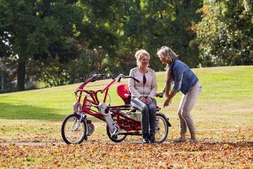 Van Raam Fun2Go Tandem-Dreirad Elektro-Dreirad