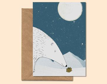 Polar Winter - greeting card