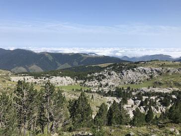 Blick vom Col de Pierre St. Martin Richtung Norden