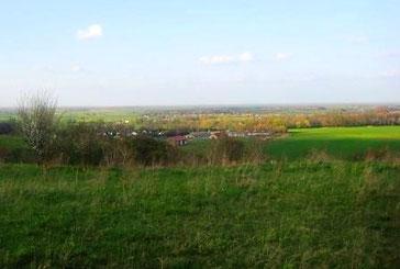 Blick vom Krugberg bei Seelow ins Oderbruch