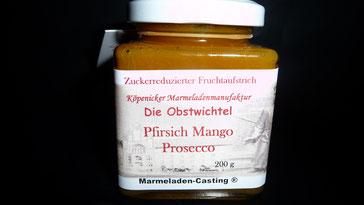 Pfirsich Mango Prosecco Marmelade