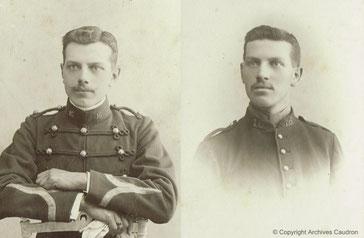 De gauche à droite : Gaston et René Caudron