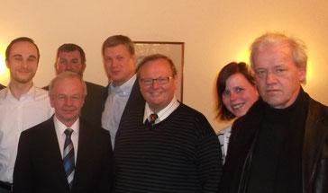 (v.l.n.r.): Patrick Engel (CDU-Kreisvorsitzender, Leer), Landrat Bernhard Bramlage, Andreas Bruns (Beisitzer, Filsum), Ulf Thiele MdL(Uplengen), Dieter Baumann (Kreistagsfraktions-vorsitzender, Moormerland), Hella Bruns (Stellv. CDU-Kreisvorsitzende, Krei