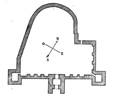 Madaure (Madauros) : Plan de la forteresse byzantine de Madaure