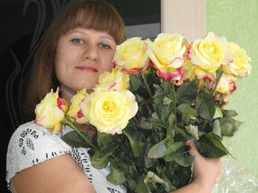 Федорова Наталия Александровна с букетом роз