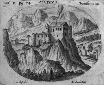 Darstellung der Burg aus dem Jahr 1499