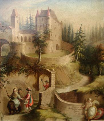 Ansicht von Südosten, Gemälde 1713
