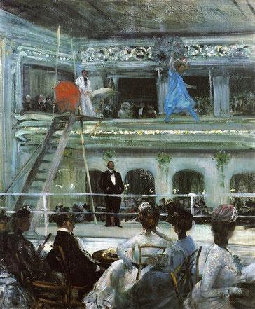 """Hammerstein's Roof Garden""(1901年)。アシュカン派の画家ウィリアム・グラッケンズ(William Glackens、 1870–1938)が描いたルーフガーデンの様子。"