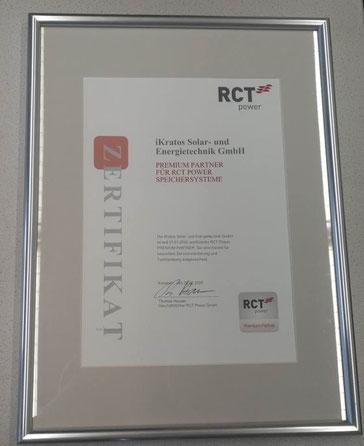RCT-Zertifikat - Premium-Partnerschaft