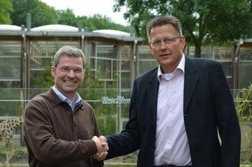 Achim Winkler (l.) und Berthold Student.