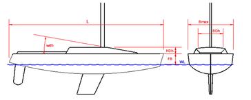 Skizze Maße Segelboot