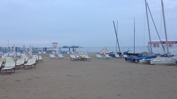 Strand am Morgen Rimini