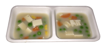 HPSに野菜を入れた食事画像