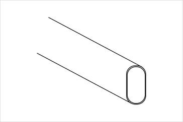 Труба овальная 30х15 мм