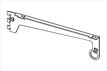 Полкодержатель с проходным держателем трубы диаметром 25 мм