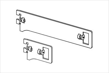 Держатель прямоугольный трубы, проходной