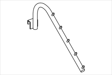 Кронштейн на прямоугольную трубу