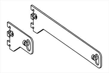 Держатель овальной трубы 30х15 мм, проходной