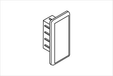 Заглушка для прямоугольной трубы 14х32 мм