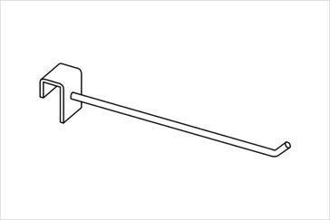 Крючок на прямоугольную трубу
